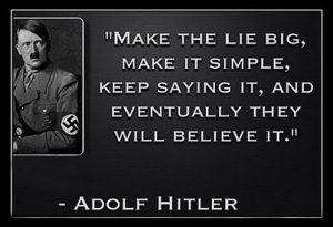 Hitler Lies quote