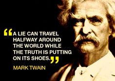 Lie travels Mark Twain